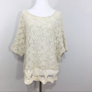 Anthropologie Knitted & Knotted Lace Alpaca Wool